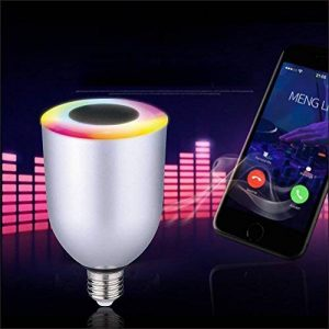 NOVAGO Ampoule d'ambiance LED Bluetooth 4.0 avec Enceinte intégrée - Ampoule connectée - Gérer vos éclairages de Lecture , Réveil , Fêtes , Musique ... à partir de votre Smartphone sous IOS ou Androïd. Nombreuses fonctions et couleurs. Norme E27 7.5W (Amp image 0 produit