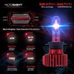 NOVSIGHT 2 x H7 LED Phares Voiture Ampoules, 60W(30W*2) 10000LM(5000LM*2), IP68 Etanche, Lumière Blanche Pure 6000K Faible Consommation d'Energie, Garandie de 2 Ans de la marque NOVSIGHT image 1 produit