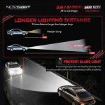 NOVSIGHT H1 LED Ampoules Phare 60W 10000LM Kit de Conversion Ampoules pour Voiture 6000K Blanc IP68 Etanche Garantie 2 Ans de la marque NOVSIGHT image 3 produit