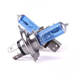 NUOLUX 2pcs H4 DC 12V 100W voiture Auto phare projecteur lampe ampoule halogène (bleu) de la marque NUOLUX image 0 produit