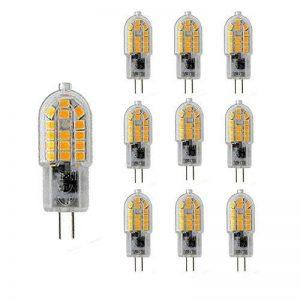 Nuoxin Lot de 10 Ampoules à LED G4 3W Blanc Chaud 3000K G4 SMD 2835 Ampoules LED Super Brillant 300LM équivalent à 30W Ampoules Halogènes G4 AC220-240 V New Style Non-dimmable de la marque NUOXIN image 0 produit