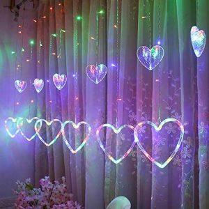 OHQ Led Rideaux En Forme De CœUr à L'IntéRieur Et L'ExtéRieur Coeur Suspendus LumièRes String Net Xmas Home Party Decor de la marque OHQ image 0 produit