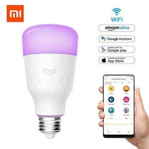 Ollivan Smart ampoule LED, original Xiaomi Mijia Yeelight ampoule E2710W 800LM 1700lm RGB Ampoule LED à intensité variable Wifi télécommande ampoule à changement de couleur Fonctionne avec Google Assistant et Amazon Alexa [mise à jour Version 2018] de image 0 produit