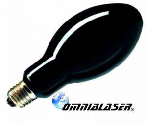 OmniaLaser Ampoule UV, aux rayons ultraviolets et à vapeur de mercure, Wood, culot E27200Watt (ce modèle d'ampoule peut se brancher directement à une douille traditionnelle) de la marque OmniaLaser image 0 produit