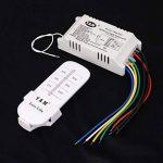 ON/OFF 4-canaux Interrupteur de Lumière sans Fil Numérique avec Télécommande 220V-240V de la marque MagiDeal image 2 produit