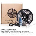 ONELD Ruban LED Multicolore 5M 5050 RGB - Ruban à LED (5m) 5050 RGB SMD Multicoulore 150 LEDs 60W, Bande LED Lumineuse avec Télécommande à Infrarouge 44 Touches et Alimentation 2A 12V de la marque ONELD image 4 produit