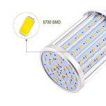 ONLT Ampoule Led, E27 60W 3000K 5850LM 160X5730SMD 550W Ampoule de haute puissance en aluminium de conversion équivalente, AC85-265V, réverbère de LED, 360 degrés projecteur, pour le garage, allée(60W-Lumière chaude) de la marque ONLT image 2 produit