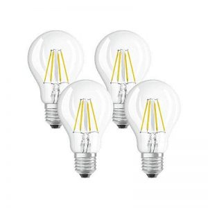 OSRAM - 4058075042865 - Ampoules LED - Forme Standard Transparent - Culot E27 - 4W Equivalent 40W - Blanc Chaud 2700K - Lot de 4 de la marque Osram image 0 produit