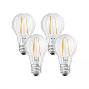 OSRAM - 4058075042889 - Ampoules LED - Forme Standard Transparent - Culot E27 - 7W Equivalent 60W - Blanc Chaud 2700K - Lot de 4 de la marque Osram image 0 produit
