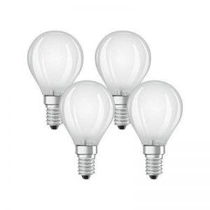 OSRAM - 4058075042988 - Ampoules LED - Forme Sphérique Dépolie - Culot E14 - 4W Equivalent 40W - Blanc Chaud 2700K - Lot de 4 de la marque Osram image 0 produit