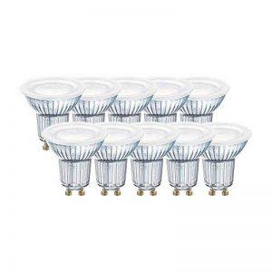OSRAM - 4058075043060 - Spots LED - Culot GU10 - 4,3W Equivalent 50W - Angle 120° - Blanc Chaud 2700K - Lot de 10 de la marque Osram image 0 produit