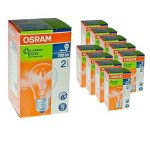 Osram 64543A Pro Classic A Lot de 10 ampoules halogènes de forme standard 46 W (équivalant à 60 W) Culot E27 235 V, E27 46 wattsW 230 voltsV de la marque Osram image 1 produit
