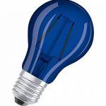 Osram Ampoule Forme Classique A Décor LED Lampe, Verre, Bleu, E27, 2 W de la marque Osram image 1 produit