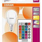 OSRAM - Ampoule LED Couleurs RGB Télécommandée - Culot E14 - Forme Sphérique - 4,3W Equivalent 25W - Blanc Chaud & Couleurs RGBW de la marque Osram image 2 produit