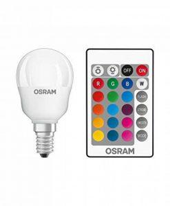 OSRAM - Ampoule LED Couleurs RGB Télécommandée - Culot E14 - Forme Sphérique - 4,3W Equivalent 25W - Blanc Chaud & Couleurs RGBW de la marque Osram image 0 produit