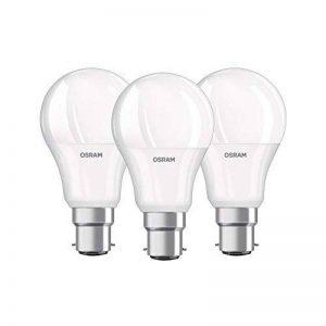 OSRAM Ampoule LED/Culot B22, 9 W Equivalent 60 W/forme classique/Dépoli Blanc Chaud - 2700K lot de 3 de la marque Osram image 0 produit
