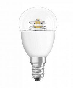 OSRAM ampoule LED E14 Star Classic P Ampoule basse consommation / 6 W– Équivalent à une ampoule incandescente de 40 W, ampoule LED sphérique /transparent, blanc chaud -2700K de la marque Osram image 0 produit