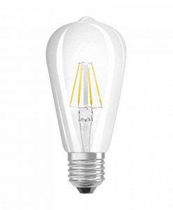 OSRAM Ampoule LED Filament, Forme Edison, Culot E27, 6W Equivalent 60W, 220-240V, claire, Blanc Chaud 2700K, Lot de 1 pièce de la marque Osram image 0 produit