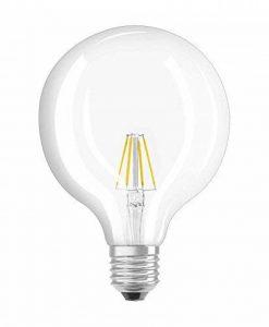 OSRAM Ampoule LED Filament, Globe, Culot E27, 4W Equivalent 40W, 220-240V, claire, Blanc Chaud 2700K, Lot de 1 pièce de la marque Osram image 0 produit