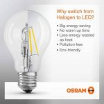 OSRAM Ampoule LED Filament, Globe, Culot E27, 4W Equivalent 40W, 220-240V, claire, Blanc Chaud 2700K, Lot de 4 pièces de la marque Osram image 2 produit