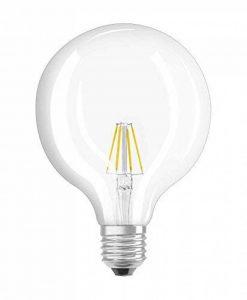 OSRAM Ampoule LED Filament, Globe, Culot E27, 6W Equivalent 60W, 220-240V, claire, Blanc Chaud 2700K, Lot de 1 pièce de la marque Osram image 0 produit