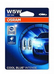 OSRAM COOL BLUE INTENSE W5W lampe halogène, éclairage de plaque, feu de position, 2825HCBI-02B, 12V véhicule de tourisme, blister double (2 pièces) de la marque Osram image 0 produit