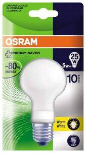 Osram Dulux Superstar 63141B1 Classic A Ampoule à économie d'énergie E27 5 W Blanc Chaud 827/ de la marque Osram image 0 produit