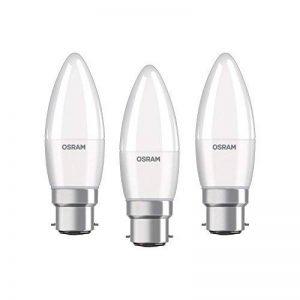 OSRAM LED BASE CLASSIC B / Lampe LED, de forme flamme , avec un culot à baïonnette: B22d, 5,70 W, 220…240 V, 40 W remplacement, dépolie, 2700 K, 3pack de la marque Osram image 0 produit