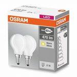 OSRAM LED BASE CLASSIC P / Lampe LED, de forme sphérique: E14, 4 W, 220…240 V, 40 W remplacement, Warm White, 2700 K, 2pack de la marque Osram image 3 produit