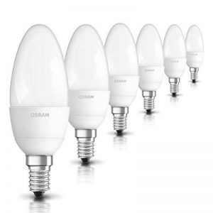 OSRAM LED STAR Ampoule LED, Forme flamme, Culot E14, 5,7W Equivalent 40W, 220-240V, dépolie, Blanc Chaud 2700K, Lot de 6 pièces de la marque Osram image 0 produit