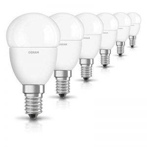 OSRAM LED STAR Ampoule LED, Forme sphérique, Culot E14, 5,7W Equivalent 40W, 220-240V, dépolie, Blanc Chaud 2700K, Lot de 6 pièces de la marque Osram image 0 produit