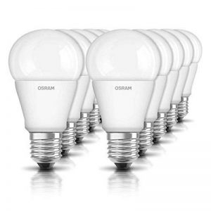 OSRAM LED STAR CLASSIC A / Lampe LED, ampoule de forme classique, avec un culot à vis: E27, 8 W, 220…240 V, 60 W remplacement, dépolie, 2700 K, 10x1pack de la marque Osram image 0 produit