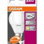 OSRAM LED SUPERSTAR Ampoule LED, Forme sphérique, Culot E14, Dimmable, 6W Equivalent 40W, 220-240V, dépolie, Blanc Chaud 2700K, Lot de 1 pièce de la marque Osram image 2 produit