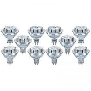 OSRAM LED SUPERSTAR MR16 / Spot LED, Culot GU5.3, Dimmable, 7,8W Equivalent 50W, 12 V, Angle : 36°, Blanc Froid 4000K, Lot de 10 pièces de la marque Osram image 0 produit
