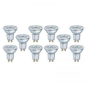 OSRAM LED SUPERSTAR PAR16 / Spot LED, Culot GU10, Dimmable, 4,6W Equivalent 50W, 230 V, Angle : 36°, Blanc Chaud 2700K, Lot de 10 pièces de la marque Osram image 0 produit
