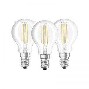 OSRAM - Lot de 3 Ampoules LED Filament Sphérique - Culot E14 - 4 W Equivalent 40 W - Blanc Froid 4000K de la marque Osram image 0 produit