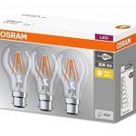 OSRAM - Lot de 3 Ampoules LED Filament Standard - Culot B22 - 7 W Equivalent 60 W - Blanc Chaud 2700K de la marque Osram image 3 produit