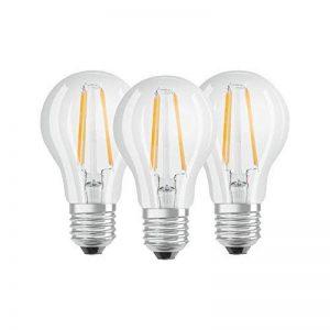 OSRAM - Lot de 3 Ampoules LED Filament Standard - Culot E27 - 7 W Equivalent 60 W - Blanc Chaud 2700K de la marque Osram image 0 produit