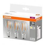 OSRAM - Lot de 3 Ampoules LED Filament Standard - Culot E27 - 7 W Equivalent 60 W - Blanc Chaud 2700K de la marque Osram image 3 produit