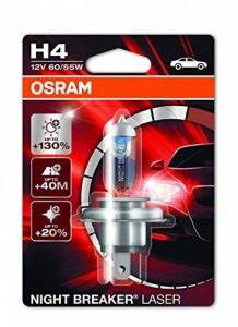 OSRAM NIGHT BREAKER LASER H4, Lampe de phare halogène, 64193NBL-01B, 12V véhicule de tourisme, blister individuel (1 pièce) de la marque Osram image 0 produit