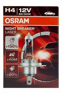OSRAM NIGHT BREAKER LASER H4, Lampe de phare halogène, 64193NBL, 12V véhicule de tourisme, boîte pliante (1 pièce) de la marque Osram image 0 produit