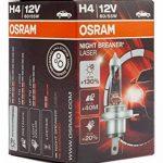 OSRAM NIGHT BREAKER LASER H4, Lampe de phare halogène, 64193NBL, 12V véhicule de tourisme, boîte pliante (1 pièce) de la marque Osram image 2 produit