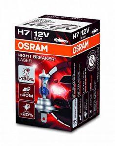 OSRAM NIGHT BREAKER LASER H7, Lampe de phare halogène, 64210NBL, 12V véhicule de tourisme, boîte pliante (1 pièce) de la marque Osram image 0 produit