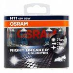 OSRAM NIGHT BREAKER UNLIMITED H11, Lampe de phare halogène, 64211NBU-HCB, 12V PKW, boîte duo (2 pièces) de la marque Osram image 4 produit