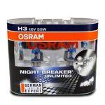 OSRAM NIGHT BREAKER UNLIMITED H3 Lampe Halogène 64151NBU-01B 12V Blister Individuel de la marque Osram image 4 produit