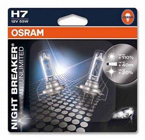 OSRAM NIGHT BREAKER UNLIMITED H7 Lampe Halogène 64210NBU-02B 12V Blister Double Set de 2 de la marque Osram image 0 produit