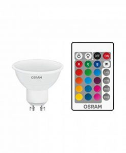 OSRAM - Spot LED Couleurs RGB Télécommandée - Culot GU10 - Forme Flamme - 4,3W Equivalent 25W - Blanc Chaud & Couleurs RGBW de la marque Osram image 0 produit