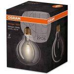 OSRAM Vintage Edition 1906 / Ampoule Halo, forme globe, design retro : E27, Dimmable, 20 W, 220…240 V, transparente, Blanc chaud 2700 K, Lot de 1 de la marque Osram image 1 produit
