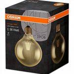 OSRAM Vintage EDITION 1906 / Ampoule LED Filament, Forme Globe, Culot E27, 4W Equivalent 34W, 220-240V, claire, Blanc Chaud, 2400 K, Lot de 1 pièce [Classe énergétique A+] de la marque Osram image 2 produit