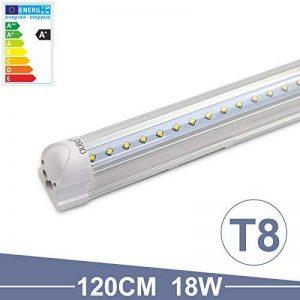 OUBO 18W Néon Tube T8 LED Lampe Intégrée 120cm Lumière Fluorescente Blanc Froid 6500k Transparent abat-jour 1900lm pour maison, parkings, bureau, cuisine, halle, entrepôts, garages etc. de la marque OUBO image 0 produit